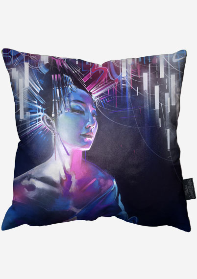 Queen of Neon Pillow