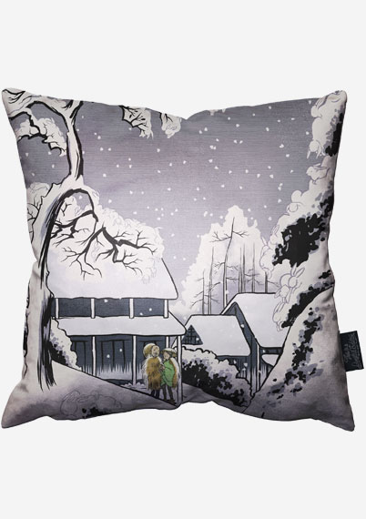 Winter Bunnies Pillow