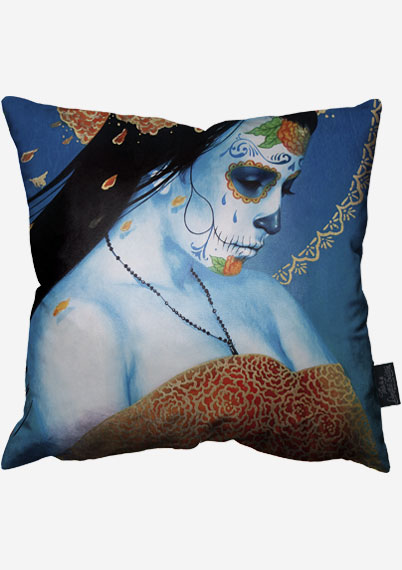 Blue Drift Pillow
