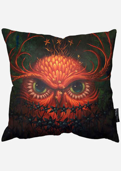 Fire Owl Pillow
