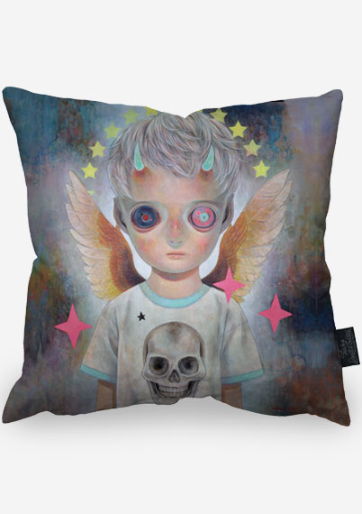 Death and Angel 1 Pillow