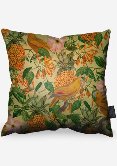 Pineapples & Parrots Pillow