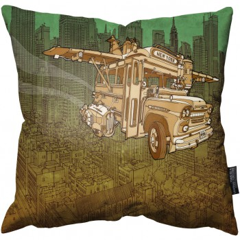 New York Bus Pillow