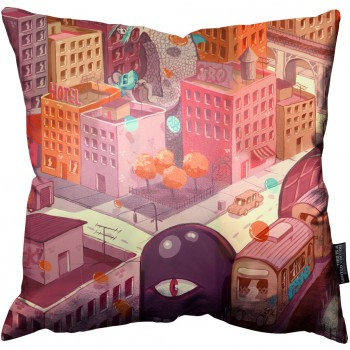 Big City Train Pillow