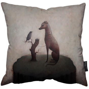 The Black Bird Pillow