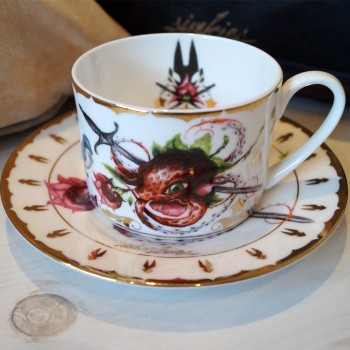 Strawctopus Cup & Saucer