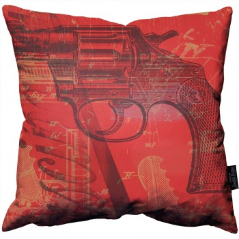 Red Pistol Pillow