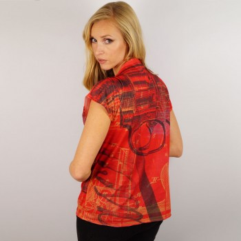 Red Pistol Ladies T-Shirt