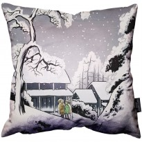Winter Bunnies Pillow image #1