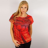Red Pistol Ladies T-Shirt image #1