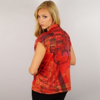 Red Pistol Ladies T-Shirt image #2