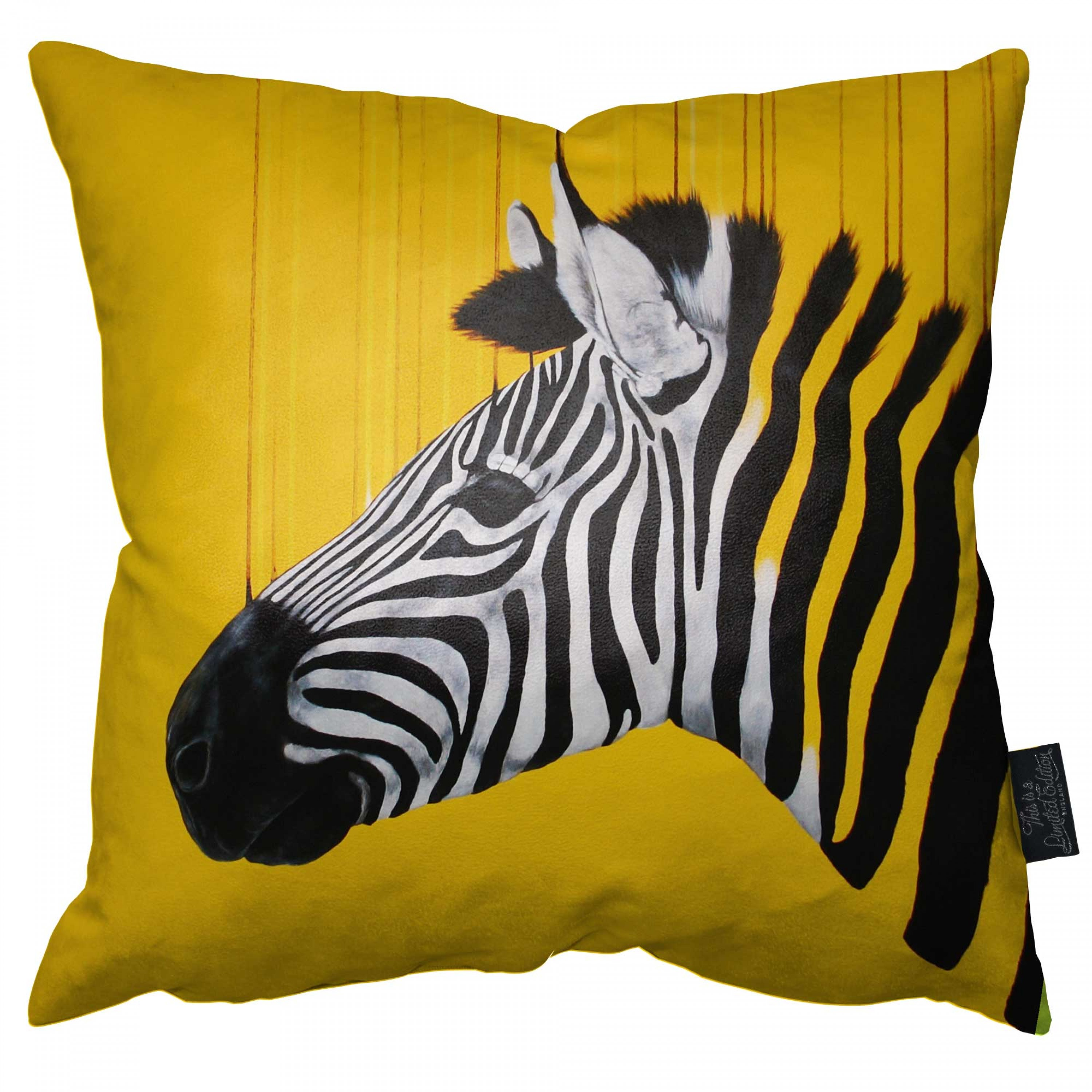 Fragmented Yellow Freedom - Pillow